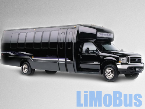 Stretch Limo Bus Black