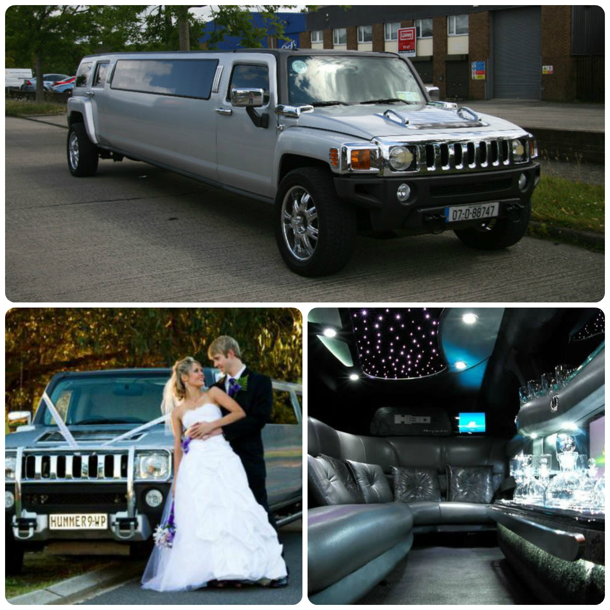 Silver Hummer H3 Limo